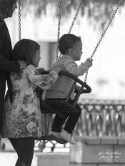 Nuria y sus hijos