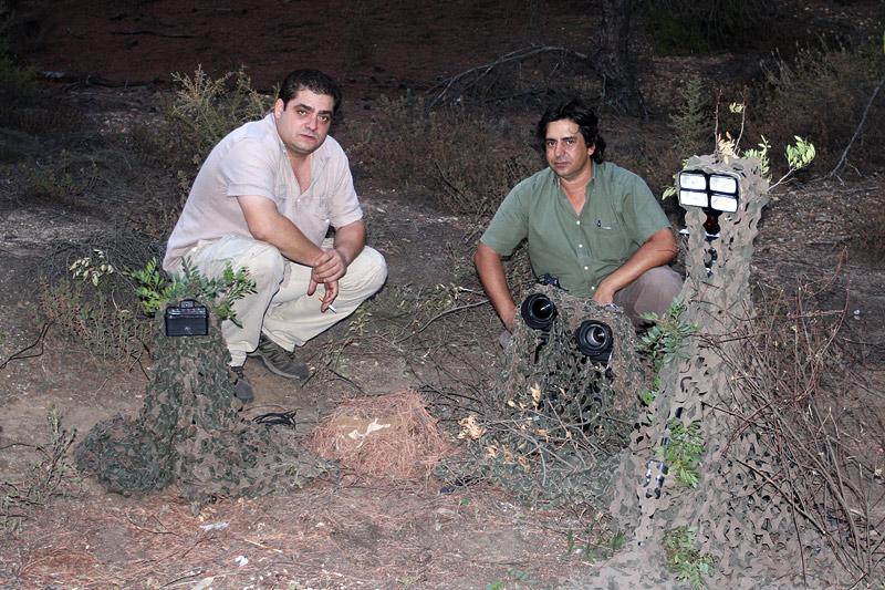 Con mi buen amigo Ángel Pulido. Búho Chico