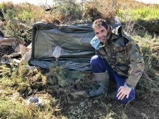 Sany en plena faena preparando para un hide